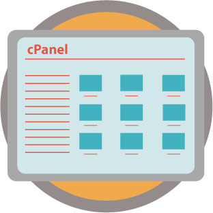 simplified version of the cPanel interface