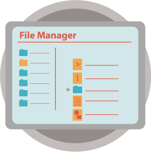 simplified screenshot of the filemanager within the cPanel interface